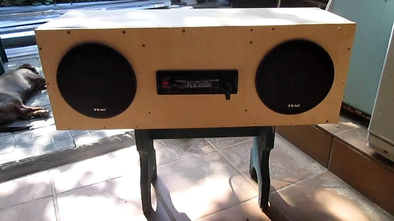 Музыка в гараже из автомагнитолы